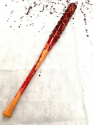 BLOODY LUCILLE Baseball Bat Prop Replica BARBED Wire Halloween Weapon Negan PU