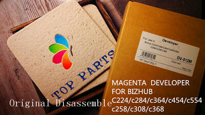 Magenta developer for Bizhub c224 c284 c364 c454 c554 C258 c308 C368 C280 +chip