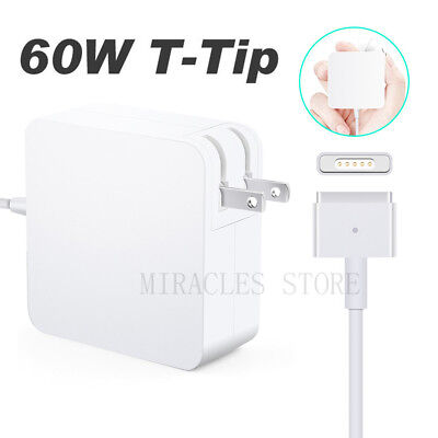 60W Magnetic T-Tip Power Adapter Charger for Macbook Pro 13-inch Retina display