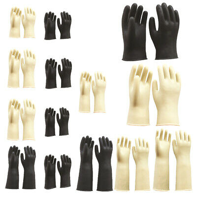 Industrial Household Gloves Latex Rubber Non Slip Waterproof Cleaning 12-24""