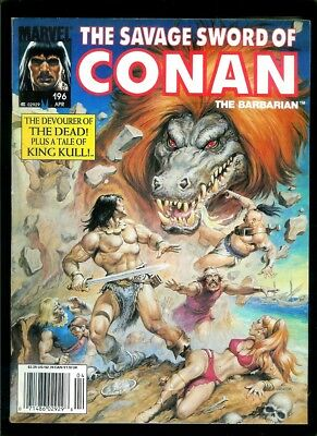 Savage Sword Of Conan # 196 (Marvel) Flat Rate Combined Shipping!