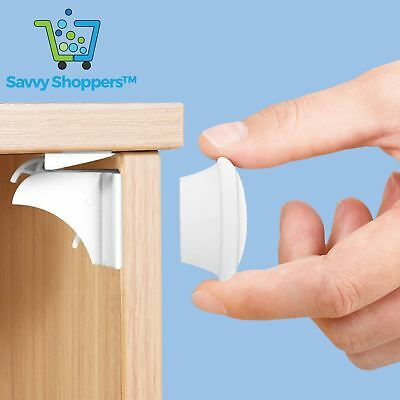 Invisible Magnetic Baby Safety Locks Child Pet Proof Cupboard Door Drawers Kit