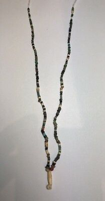 Ancient Roman Mixed Stone And Glass Beads Necklace C.1st-2nd Century AD.