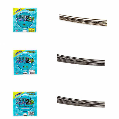 Aquateko 4,5 m Knot 2 Kinky Single-Strand Nickel-Titanium-Leader (15 ft.)