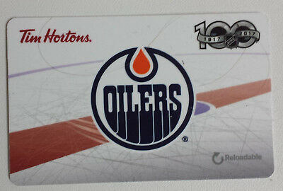 Edmonton Oilers NHL Tim Hortons Collectible Gift Card 2017 New No Value