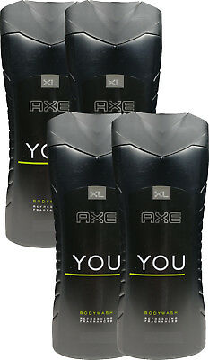 4 x 400 ml Axe You Body Wash / Duschgel XL