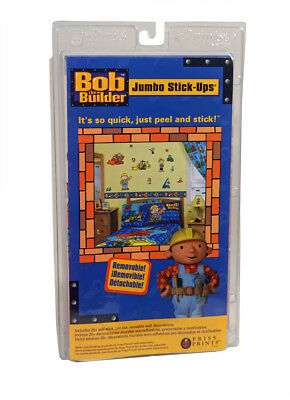 Bob the Builder JUMBO STICK UPS ~ Decorate a Room in Minutes ~ FREE US SHIPPING