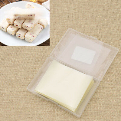 500pcs/set Edible Rice Paper Sheets Wafer for Handmade Sugar Candy Packaging DIY