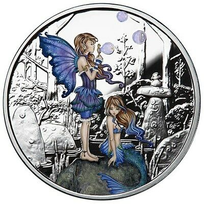 1 oz Colorized Proof Amy Brown Collection Second Cousins Silver Round New w/COA