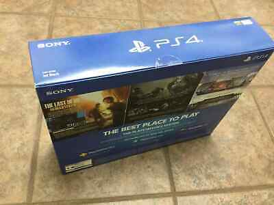 Brand New Sony Playstation 4 PS4 Slim 1TB Console - Jet Black Plus 3 Games