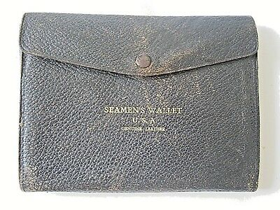 Vintage 1939-1945 WW2 U.S.A. Navy Seamen's Leather Wallet - very good condition