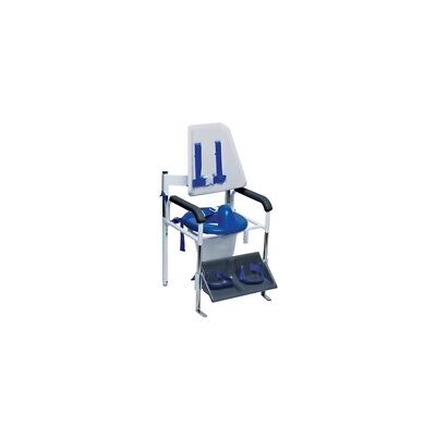 Columbia® Positioning Commode - High Back (H-Harness) - Padded - Small 45-2250P