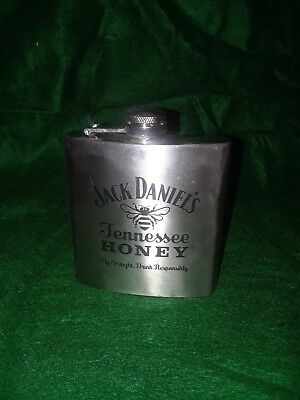 Jack daniels Tennessee Honey 6oz Stainless Flask Pre owned