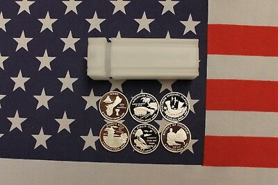 2009 S Silver Territories Quarter Proof Roll - Mixed - 6 Diff. Deep Mirror Cameo