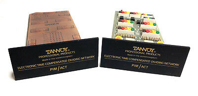 Vintage Tannoy Electronic Time Compensated Dividing Network PIM / ACT Pair