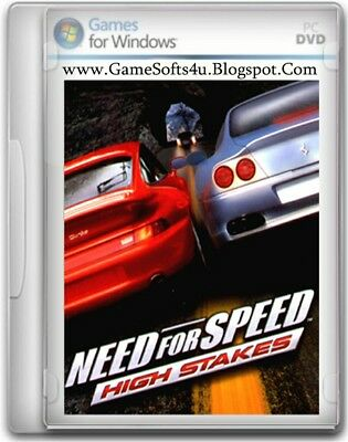 Need for Speed High Stakes PC CD-ROM Video Game & Case EA Racing Driving 1999
