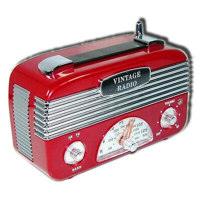 Retro Vintage 40's AM/FM Radio Vintage Red