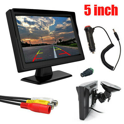 "5"" inch 800*480 TFT LCD HD Screen Monitor for Car Rearview Backup Parking Camera"