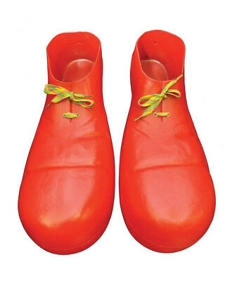 """NEW Plastic Clown Adult Shoes (15""""),  One-Size"""