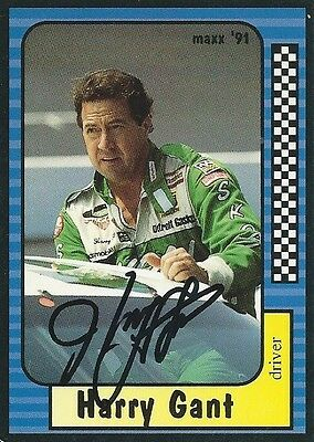 Harry Gant Autographed Signed 1991 Maxx Racing Nascar Photo Trading Card #33