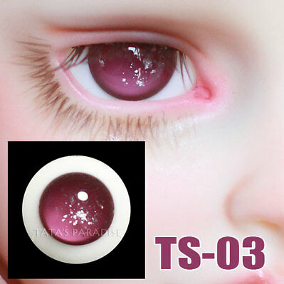 TATA glass eyes TS-03 14mm/16mm for BJD SD MSD 1/3 1/4 size doll use star pink