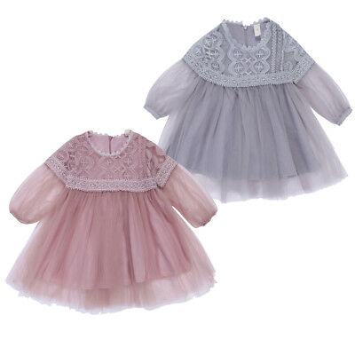 AU Stock Baby Girls Princess Dress Lace Pageant Party Dresses Toddler Clothes
