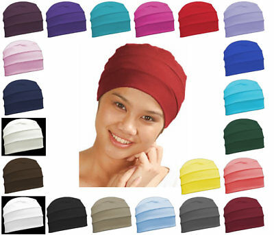Soft 3 Seams Chemo Hats Hair Loss Cancer Head Scarves Chemotherapy Alopecia Caps