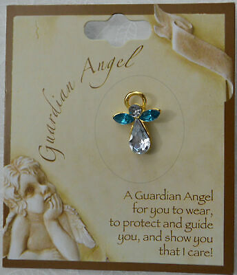 GUARDIAN ANGEL Birthstone Lapel Pin, Hat Pin, MARCH, Great Gift Item