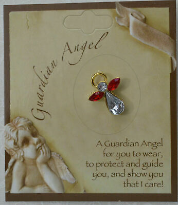 GUARDIAN ANGEL Birthstone Lapel Pin, Hat Pin, JULY, Great Gift Item