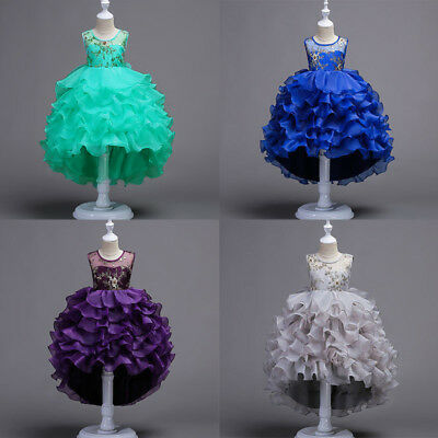 Flower Girls Princess Dresses Baby Kids Formal Party Wedding Pageant Dresses New