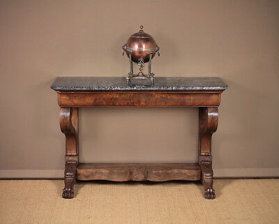 Antique 19th.c. Mahogany and Marble Top Console Table c.1830