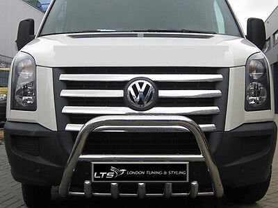Vw Crafter Stainless Steel Chrome Nudge A-Bar, Bull Bar 2006-2013