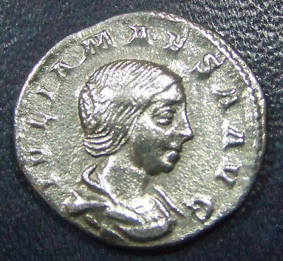 JULIA MAESA, ROME MINT, DENARIUS. 18 mm 2.95 g. ALMOST UNC CONDITION. GR8 DETAIL