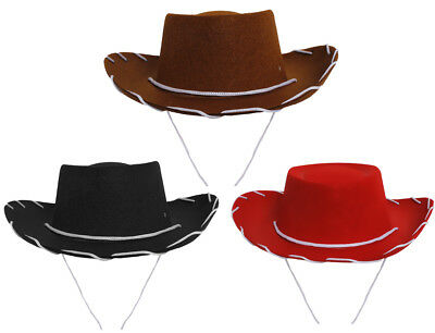 Pack Of 6 Kids Cowboy Hat 52Cm Cowgirl Fancy Dress Costume Outfit Accessory