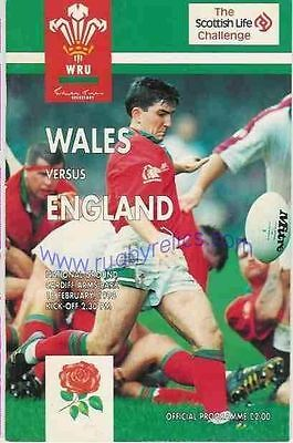 WALES v ENGLAND 1995 RUGBY PROGRAMME 18th  February  CARDIFF  Arms Park