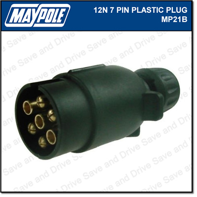 Maypole 12N Plug 7 Pin Towing Trailer Caravan Connector & Electrics 12v MP021