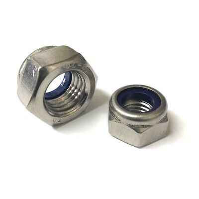 Nyloc Locking Nuts A4 Stainless Steel M3 M4 M5 M6 M8 M10 M12 M16 M20