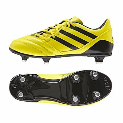 Adidas AW15 Incurza SG Junior Rugby Boots - Yellow/Black Size