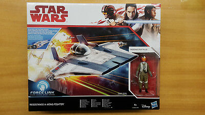 STAR WARS The Last Jedi RESISTANCE A-WING FIGHTER + PILOT TALLIE Hasbro NEU MISB