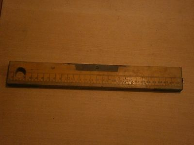Antique Vintage Wooden Level Building Tool