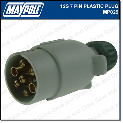 Maypole 12S Plug 7 Pin Towing Trailer Caravan Connector & Electrics 12v MP029