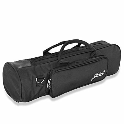 Flexzion Senior Trumpet Gig Bag Case Durable Soft Nylon Padded Portable with and