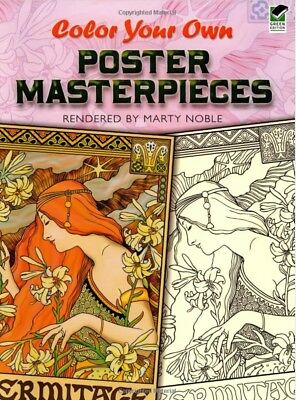 Colour Your Own Poster Masterpieces Art Adult Colouring Book Adverts Promotional