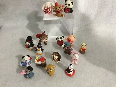 VINTAGE Hallmark MERRY MINIATURES Valentine  Lot of 17 80's-90's ~ CUTE!!