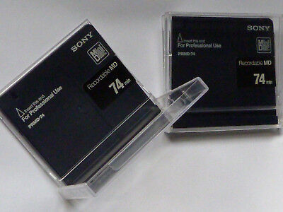 2x Sony PRMD-74   MiniDisc - Made in Japan - For Professional Use - inkl. Hülle