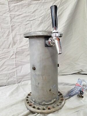 "Custom Draft Beer Tower w/ Perlick 630SS faucet ""tinned"" copper Navy salvage"