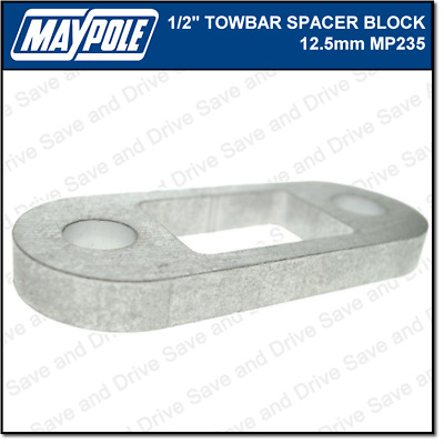 Maypole Towbar 1/2 Inch Spacer Block Towing Trailer Caravan Towball 1.25cm MP235