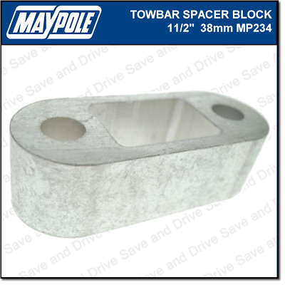 Maypole Towbar 1.5 Inch Spacer Block Towing Trailer Caravan Towball 3.8cm MP234