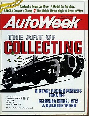 AutoWeek Magazine November 27, 1997 The Art of Collection:Vintage Racing Posters