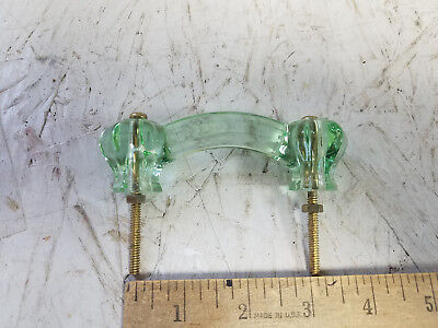 "Glass Drawer Pull 3"" wide Green tint"